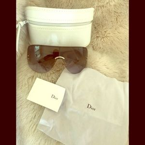Christian Dior Escrime Rimless Shield Sunglasses